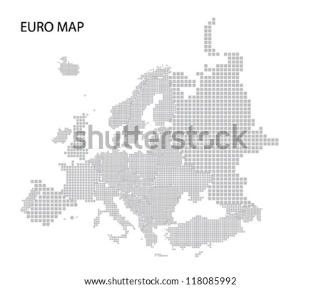 Vector map of Europe with editable countries