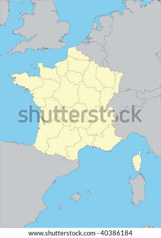 political maps of france. hair France Regions, Political