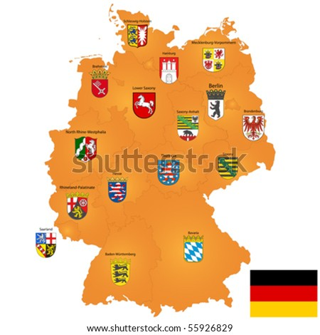 vector map of germany with coat