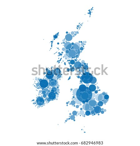 vector map of great britain and