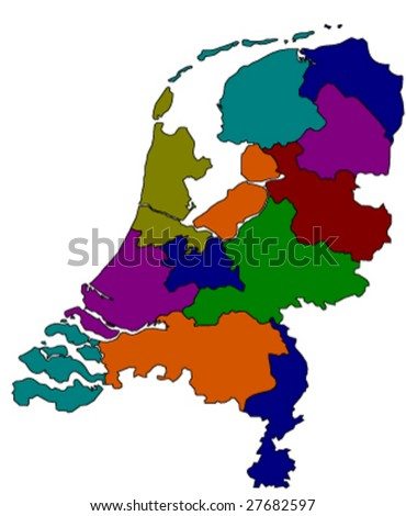 vector map of holland