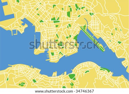 Vector map of hongkong.
