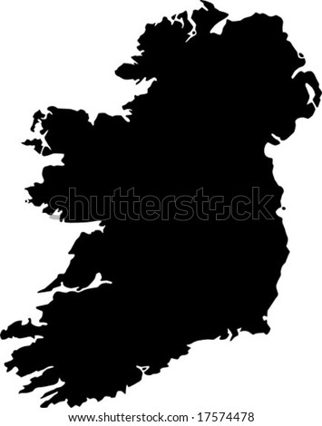 vector map of Ireland