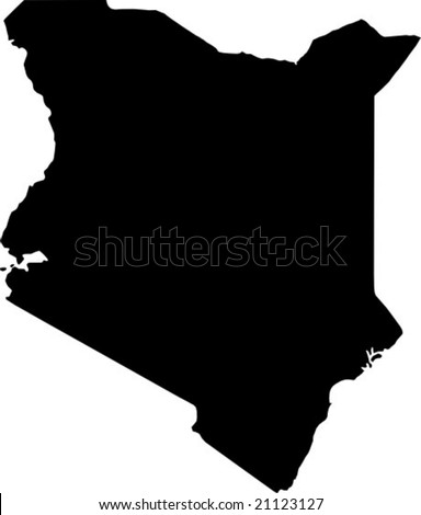 vector map of kenya