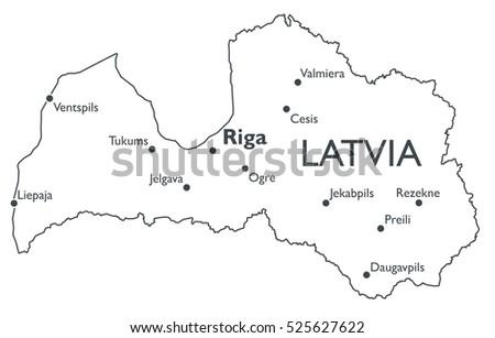 Free Latvia Map Vector - Download Free Vector Art, Stock Graphics ...