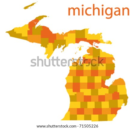 vector map of michigan state