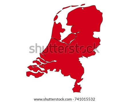 Free Abstract Netherlands Map Vector Download Free Vector Art