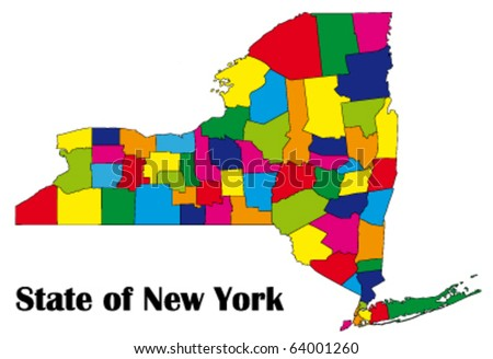new york state map with counties. map of New York state with