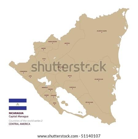 Nicaragua Capitals Map of Nicaragua Capital City