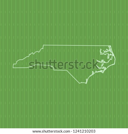 vector map of North Carolina