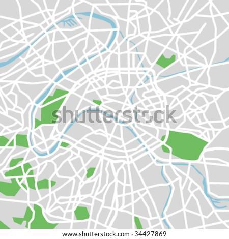 vector map of Paris