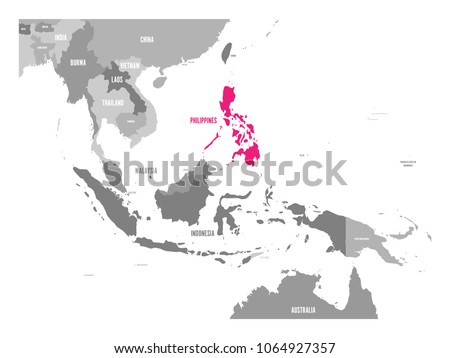 vector map of philippines pink