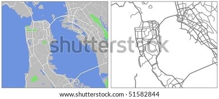 vector map of San Francisco
