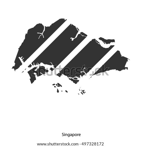 Royalty Free Stock Photos and Images Vector map of Singapore from