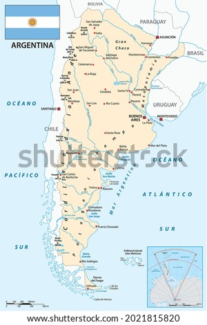 vector map of south american