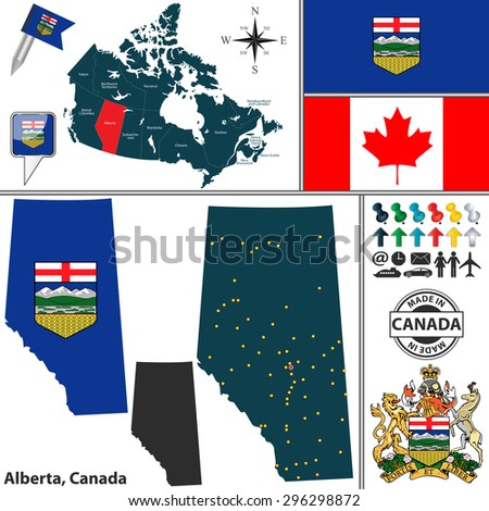 vector map of state alberta