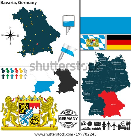 vector map of state bavaria