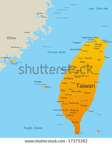 Vector map of Taiwan country