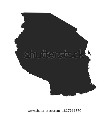 Vector Map of Tanzania Isolated ストックフォト ©