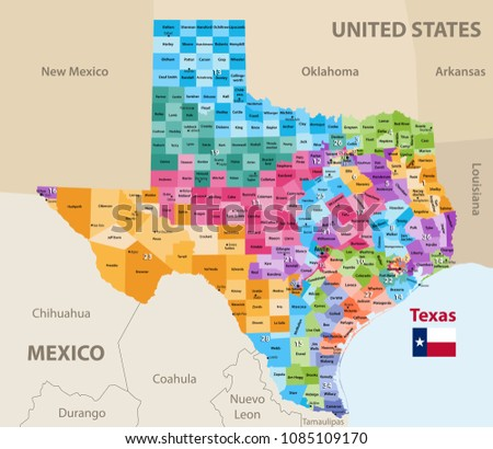 vector map of texas's...