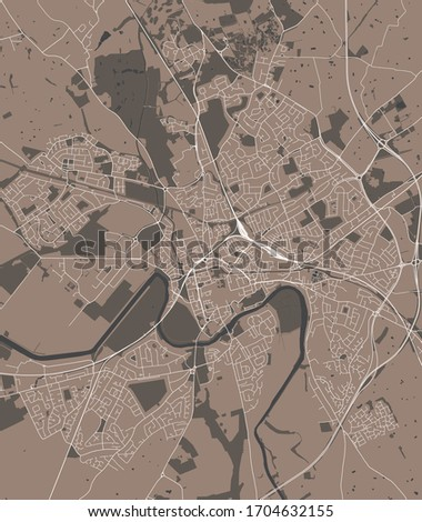 vector map of the city of