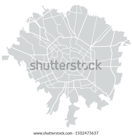 vector map of the city of milan
