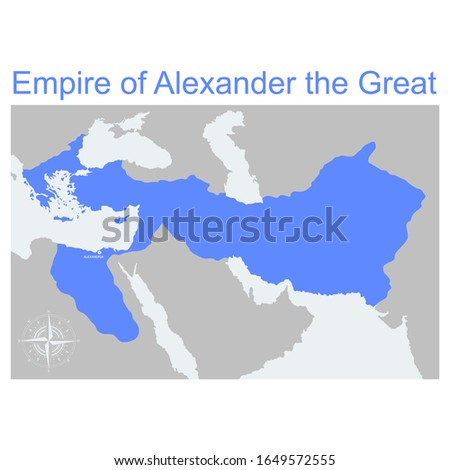 vector map of the empire of