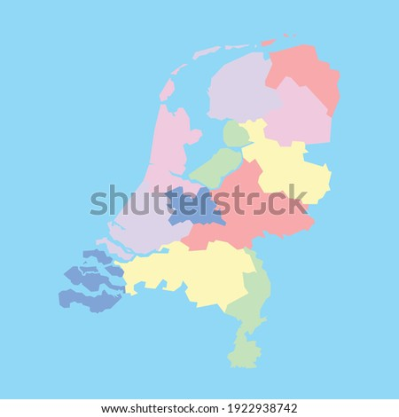 Vector map of the Netherlands Holland to study Foto stock ©