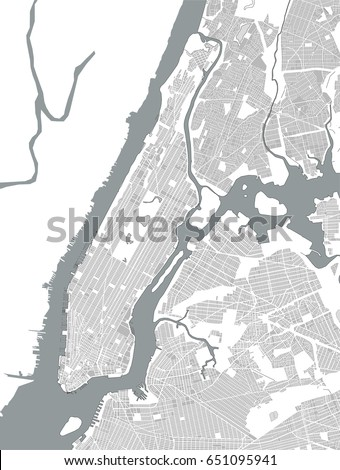 vector map of the new york city