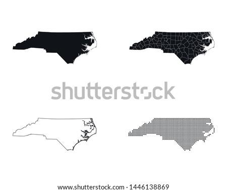vector map of the North Carolina