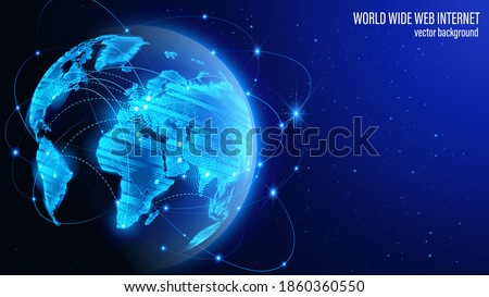 vector map of the planet blue