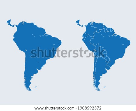 vector map of the South America Foto stock ©