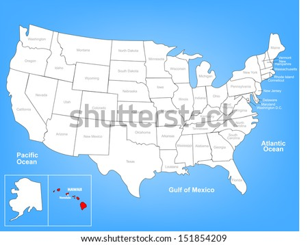 United States Map Vector Download Free Vector Art Stock - Us map with florida highlighted