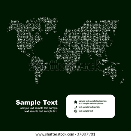 Vector map of the world. Business background.