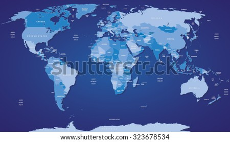 vector map of the world most
