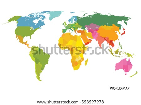Pases del mapa mundial descargue grficos y vectores gratis vector map of the world with countries america eurasia australia africa gumiabroncs Images