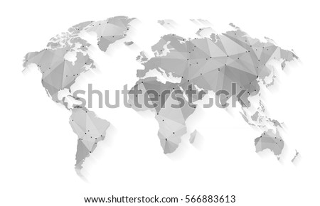Free Vector Grey World Map Download Free Vector Art Stock - Black map of world