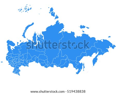 vector map russia country