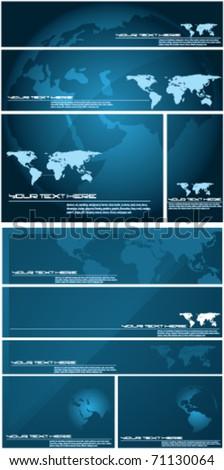 vector map set - stock vector