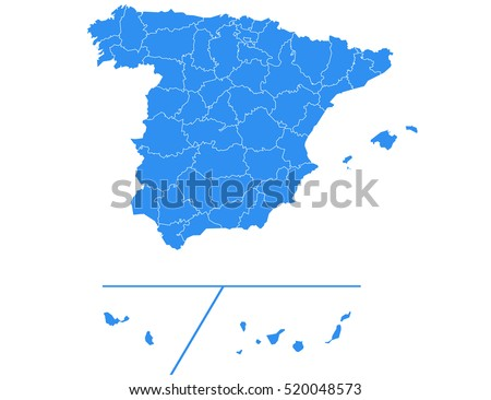 Vector map-spain Provinces country #520048573