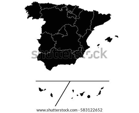 vector map spain provinces