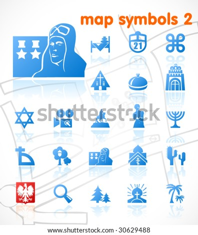 vector map symbols set 2