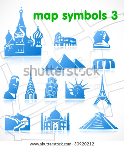 vector map symbols. Set 3.