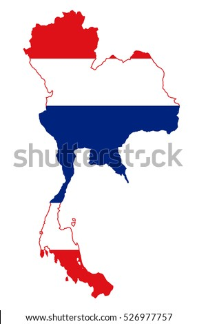 Vector map-thailand country on white background