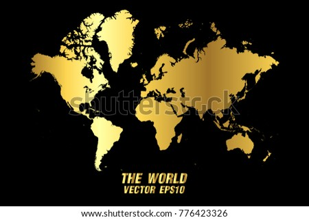 Golden global maps vector download free vector art stock graphics vector map vector gold texture map of world mapvector illustration eps 10 gumiabroncs Images