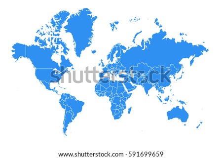 Vector map-World country