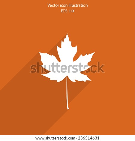 vector maple leaf flat web icon
