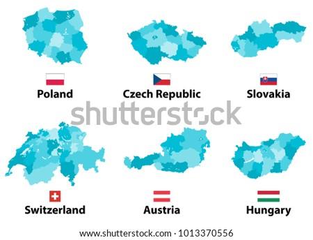 Free Switzerland Map Vector Download Free Vector Art Stock