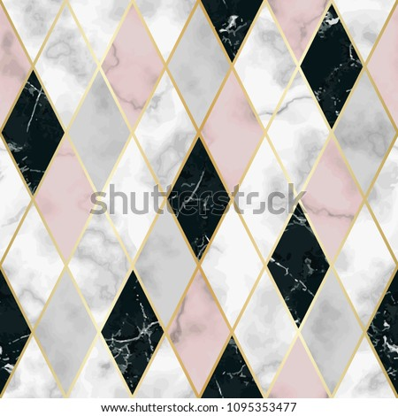 stock-vector-vector-marble-seamless-pattern-with-golden-geometric-diagonal-lines-white-pink-black-rhombus