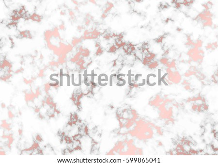 Vector marble with rose gold background. Marble with rose gold texture. Trendy template for design, party, birthday, wedding, invitation, web, banner, card.